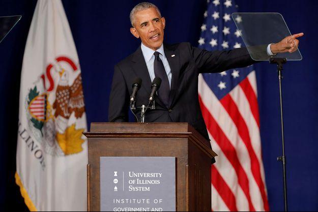 Barack Obama vendredi dans l'Illinois.