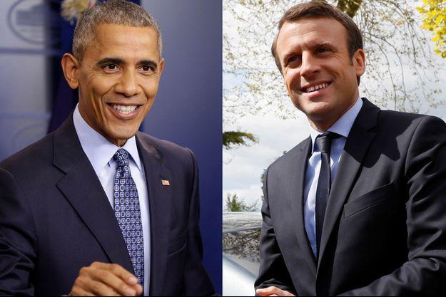 L'ancien président américain Barack Obama s'est entretenu jeudi avec Emmanuel Macron.