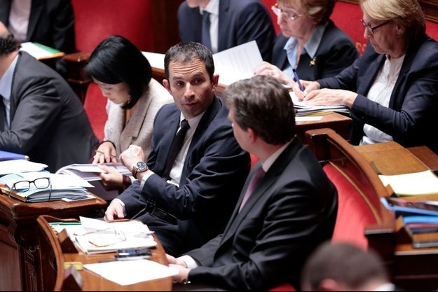 Benoît Hamon, ministre délégué à la Consommation, mardi à l'Assemblée nationale.