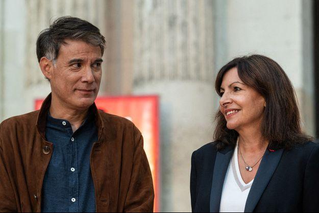 Anne Hidalgo et Olivier Faure, le 27 août à Blois, lors de la rentrée politique du PS.