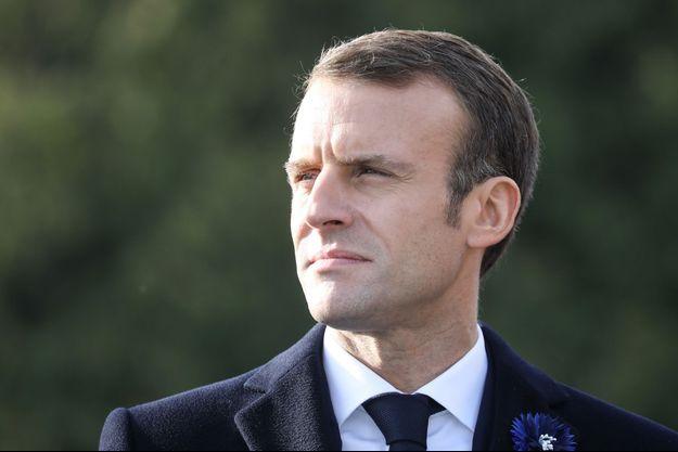 Emmanuel Macron mardi matin aux Eparges