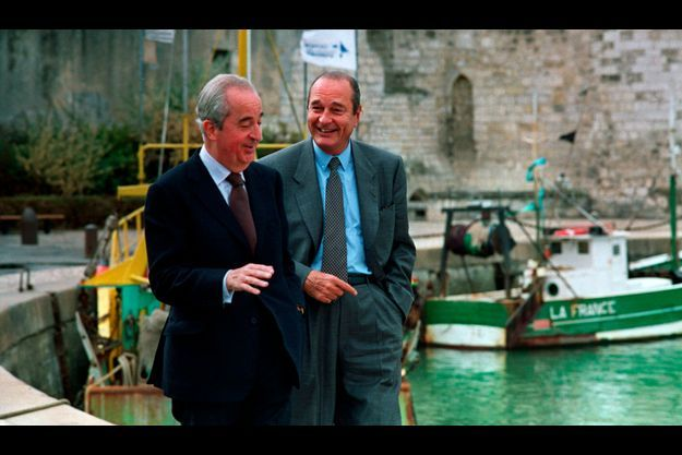 Edouard Balladur et Jacques Chirac en septembre 1993. A l'époque, les deux amis de 30 ans ne sont pas encore des rivaux. L'ambition élyséenne se chargera dans les mois suivants de transformer l'amitié en haine.