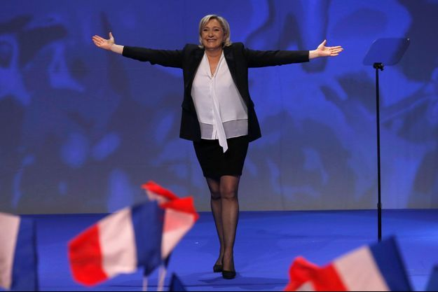 Marine Le Pen en meeting à Saint-Herblain, le 26 février 2017.