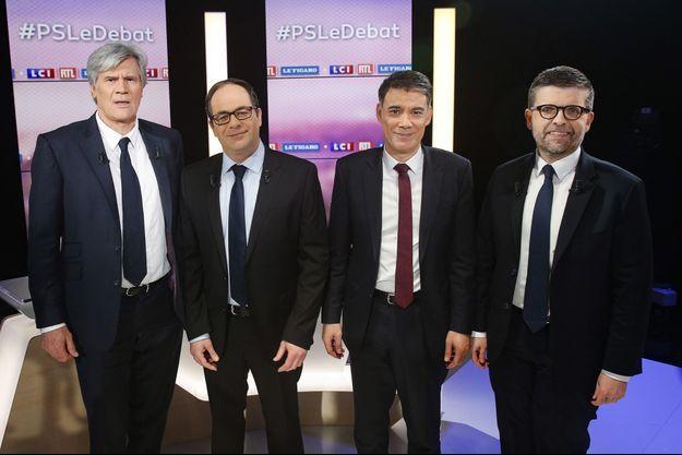 Stéphane Le Foll, Emmanuel Maurel, Olivier Faure et Luc Carvounas
