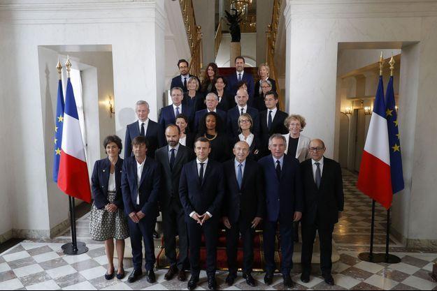 Photo de famille du gouvernement à l'Elysée, le 18 mai dernier.