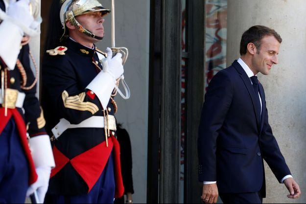 Emmanuel Macron mardi à l'Eysée.