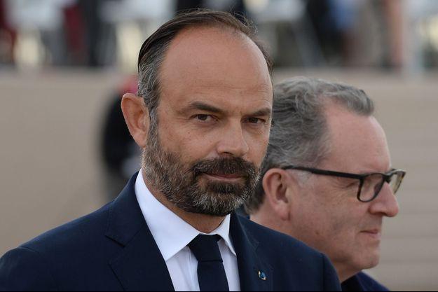 Edouard Philippe, ici le 6 juin à Courseulles-sur-Mer.