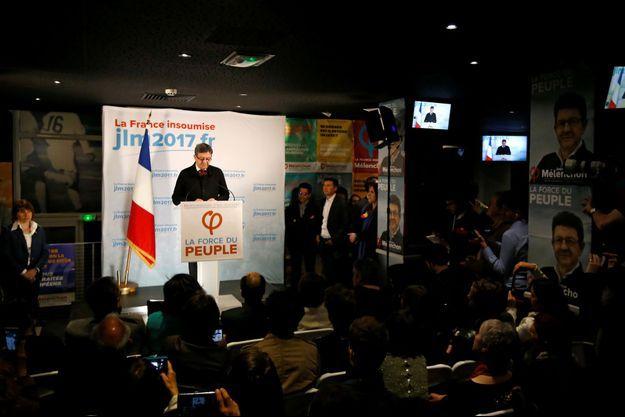 Jean-Luc Mélenchon dimanche 23 avril au soir.
