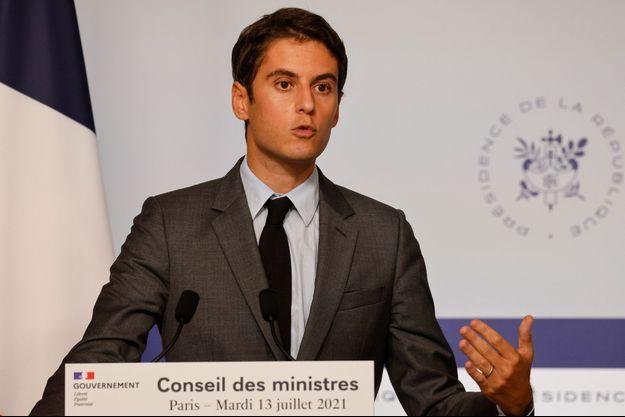 Gabriel Attal, mercredi lors du compte-rendu du Conseil des ministres.