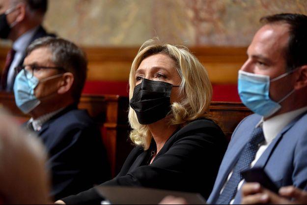 Marine Le Pen à l'Assemblée nationale, le 12 janvier.