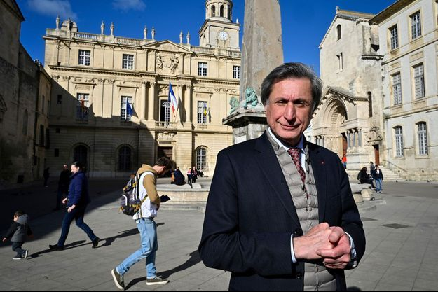 Patrick de Carolis, à Arles en février