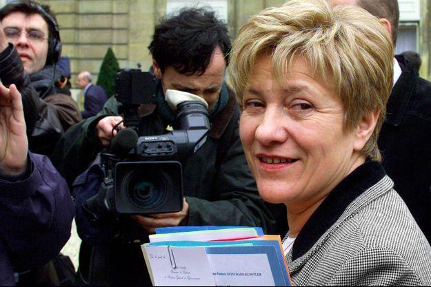 Paulette Guinchard, ancienne secrétaire d'Etat aux personnes âgées, ici en 2001 à l'Elysée.