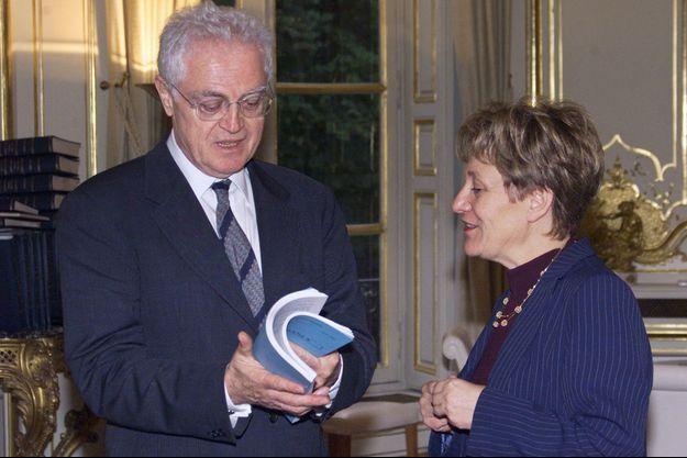 Lionel Jospin et Paulette Guinchard, ici en mars 2001.