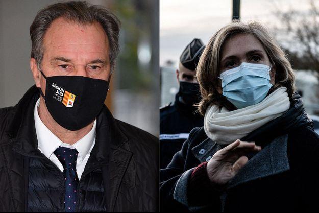 Renaud Muselier, à Nice le 21 janvier et Valérie Pécresse,fin janvier lors d'un déplacement dans les Yvelines.