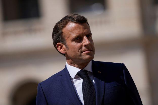 Emmanuel Macron aux Invalides mercredi