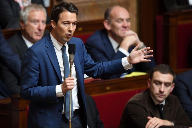 Guillaume Peltier à l'Assemblée en octobre 2017.