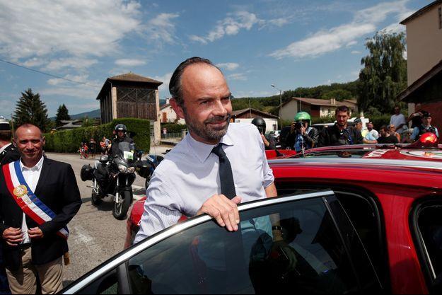 Edouard Philippe vendredi sur le Tour de France.