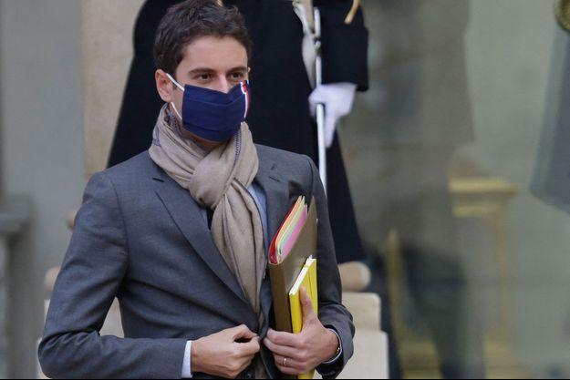 Gabriel Attal, le porte parole du gouvernement, ici à l'Elysée le 9 décembre.
