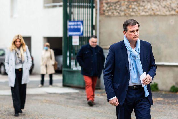 Louis Aliot lors du premier tour des élections municipales à Perpignan, le 15 mars.