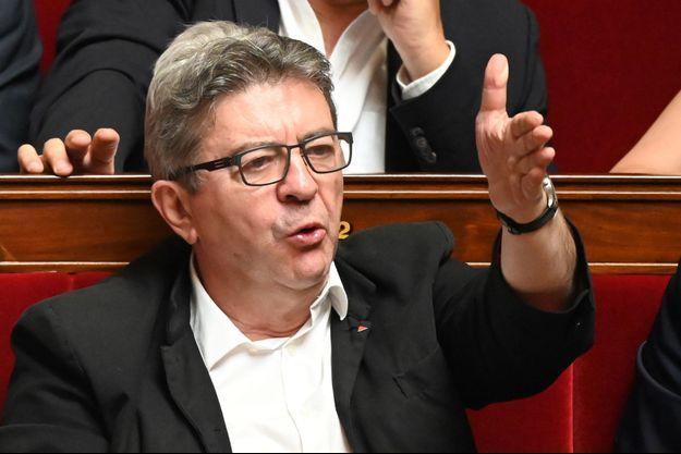 Jean-Luc Mélenchon à l'Assemblée nationale.