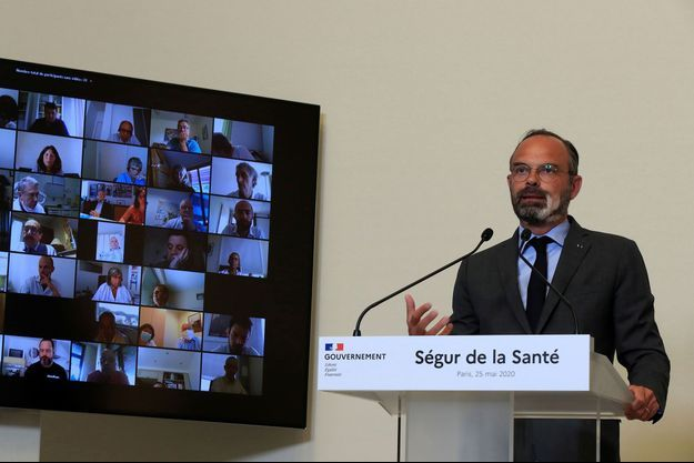 """Edouard Philippe lundi lors de l'ouverture du """"Ségur de la Santé"""""""