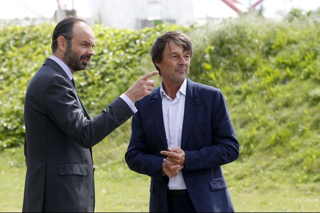 Edouard Philippe et Nicolas Hulot, ici en mai 2017 à Valenton.