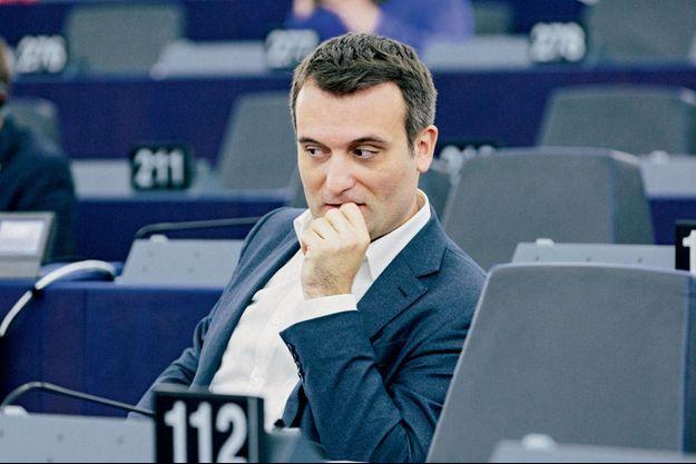 Florian Philippot au Parlement européen à Strasbourg, en juin 2018.