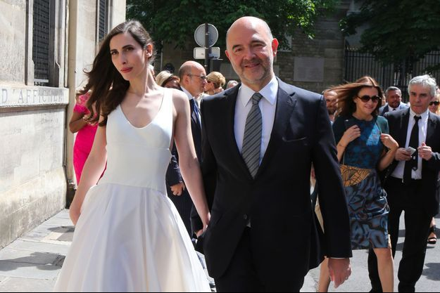 Anne-Michelle Basteri et Pierre Moscovici en juin 2015, lors de leur mariage.