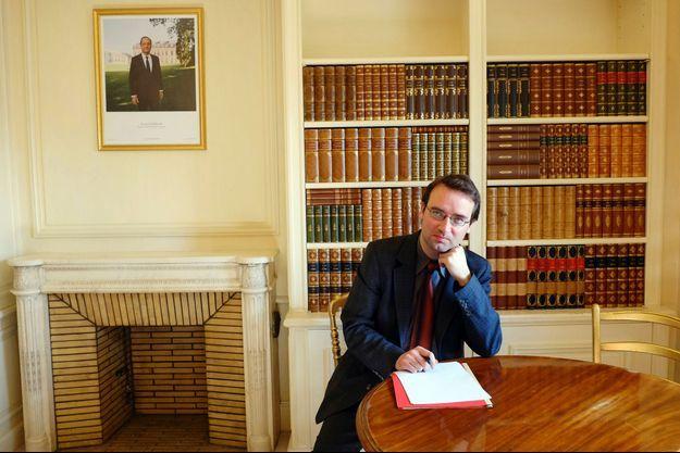 Pierre-Yves Bocquet dans son nouveau bureau à l'Elysée.