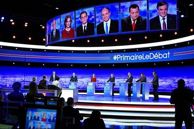 le premier débat de la primaire de la droite était diffusé sur TF1.
