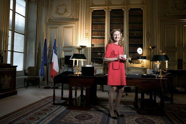 Dans le bureau de la ministre de la Justice, Nicole Belloubet, le 29 janvier.
