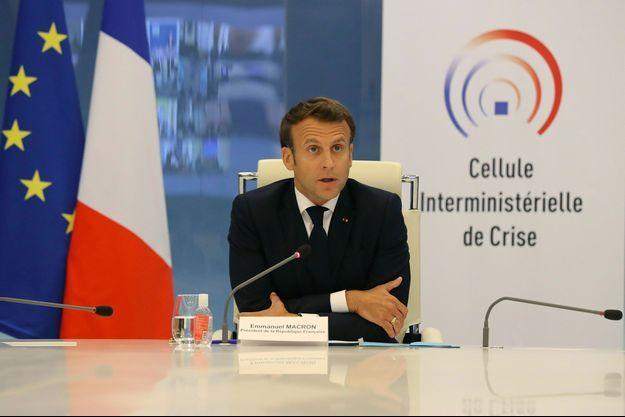 Emmanuel Macron mercredi au ministère de l'Intérieur.