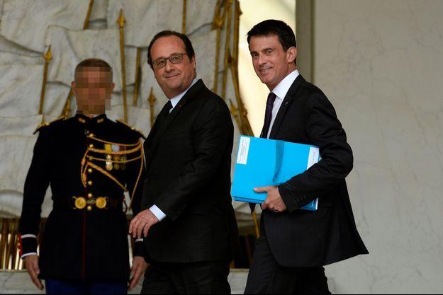 François Hollande et Manuel Valls à l'Elysée, le 11 mai dernier.