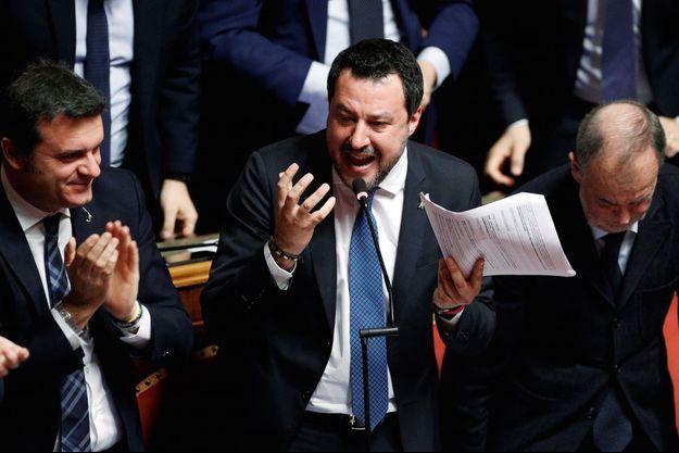 Matteo Salvini, le leader de la Ligue du Nord en Italie.