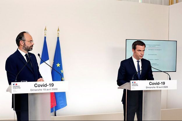 Edouard Philippe et Olivier Véran le 19 avril 2020.