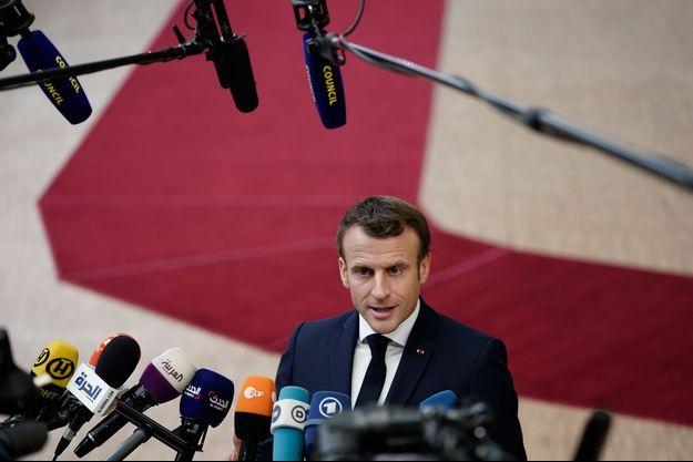 Emmanuel Macron, à Bruxelles jeudi.