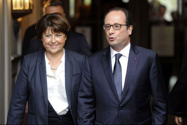 Martine Aubry et François Hollande à Lille en 2014