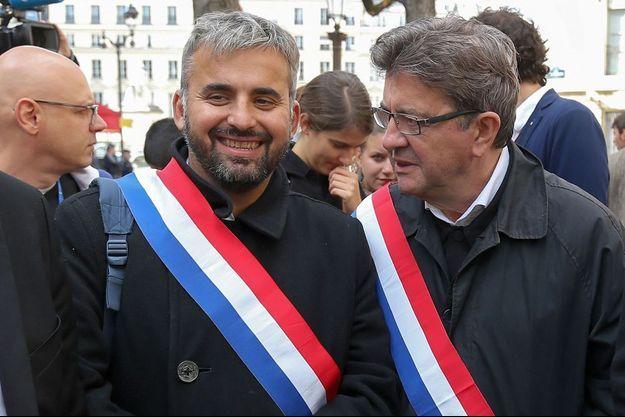 Alexis Corbière aux côtés de Jean-Luc Mélenchon le 20 septembre 2017.