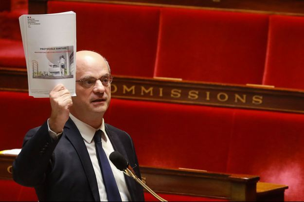 Jean-Michel Blanquer à l'Assemblée nationale le 29 avril.