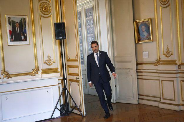 Christophe Castaner au ministère de l'Intérieur, jeudi.