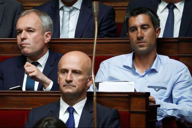 François de Rugy et François Ruffin côte à côte à l'Assemblée nationale.