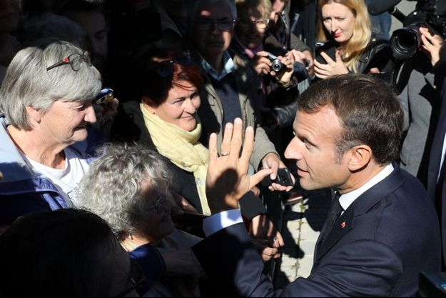 Emmanuel Macron à Colombey-les-deux-Eglises.