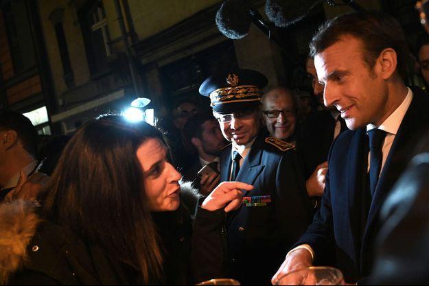 Emmanuel Macron a rencontré les habitants de Rouen jeudi.