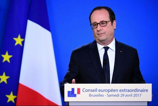 François Hollande lors de son dernier sommet européen, à Bruxelles.
