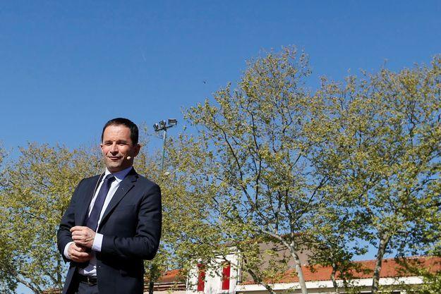 Benoit Hamon en avril 2017 lors de la campagne présidentielle.