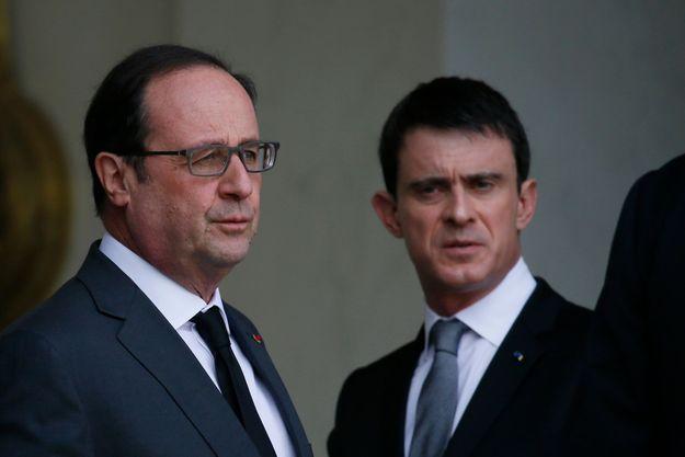 François Hollande en baisse et Manuel Valls en légère hausse