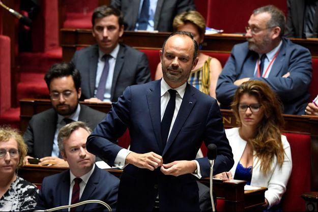 Edouard Philippe devant l'Assemblée nationale le 24 juillet 2018.