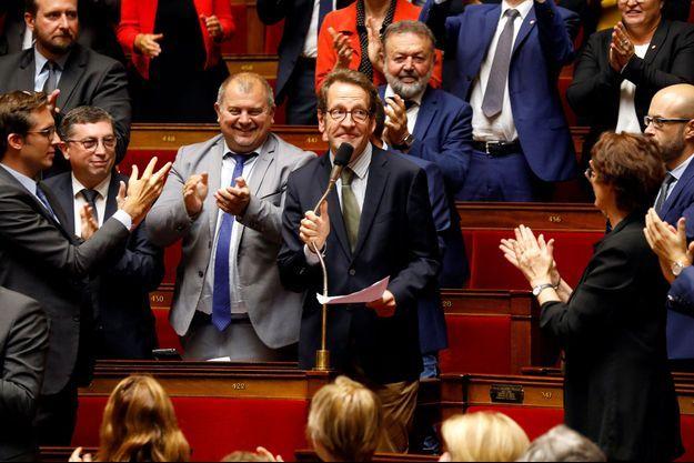 Lors de l'élection du président du groupe LREM à l'Assemblée nationale, Gilles Le Gendre, le 18 septembre dernier.