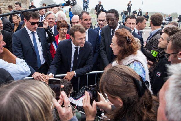 Emmanuel Macron mercredi à Plévenon.