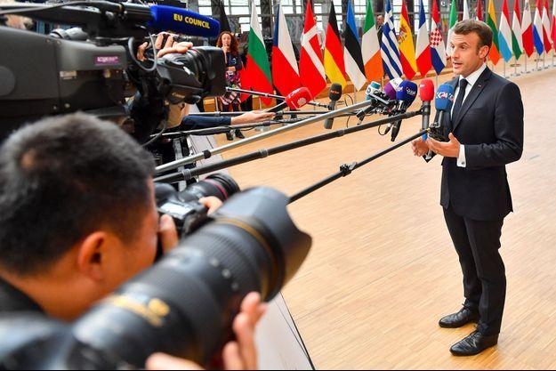 Emmanuel Macron à Bruxelles mardi.